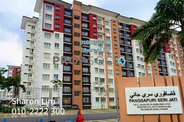 For Rent Apartment at Seri Jati Apartment, Setia Alam Freehold Unfurnished 3R/2B 800translationmissing:en.pricing.unit