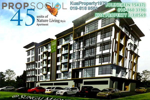 For Sale Apartment at Forest Hill, Kuching Leasehold Semi Furnished 3R/2B 440k