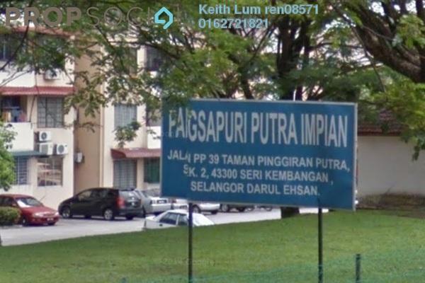 For Sale Apartment at Putra Impian Apartment, Bandar Putra Permai Freehold Semi Furnished 3R/2B 220k