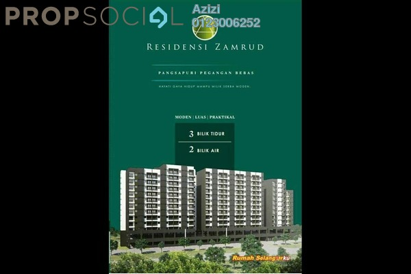 For Sale Apartment at Kajang 2, Kajang Freehold Unfurnished 3R/2B 234k