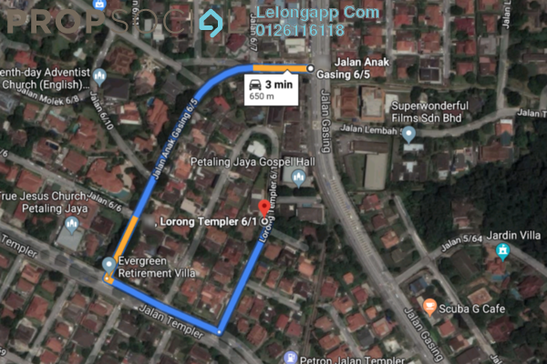For Sale Semi-Detached at Section 6, Petaling Jaya Leasehold Unfurnished 4R/3B 1.01m
