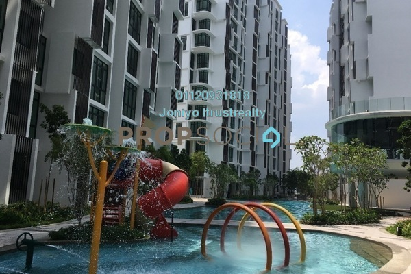 For Sale Condominium at H2O Residences, Ara Damansara Freehold Semi Furnished 1R/1B 442k