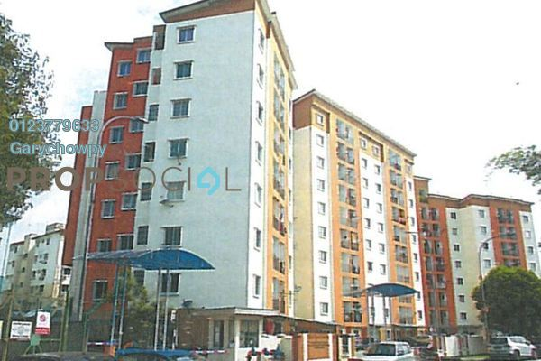 For Sale Apartment at Ria Apartment, Kepong Freehold Semi Furnished 3R/2B 194k