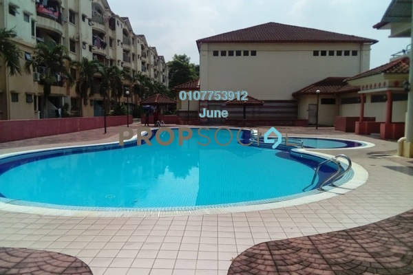 For Rent Condominium at Perdana Apartment, Shah Alam Freehold Semi Furnished 3R/2B 1.2k