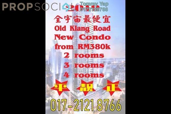 For Sale Serviced Residence at Platinum Arena, Old Klang Road Freehold Semi Furnished 1R/2B 385k