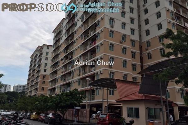 For Sale Apartment at Saujana Damai, Sungai Ara Freehold Semi Furnished 3R/2B 330k