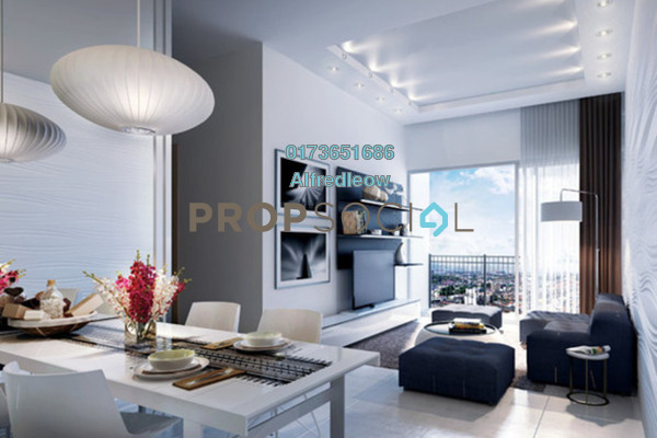 For Rent Condominium at KL Traders Square, Kuala Lumpur Freehold Fully Furnished 4R/2B 1.9k