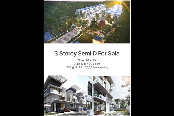 For Sale Semi-Detached at Alamaia Homes, Kota Kemuning Freehold Unfurnished 7R/8B 1.63m