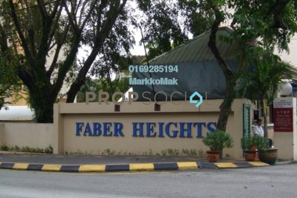 For Sale Condominium at Faber Heights, Taman Desa Freehold Fully Furnished 3R/2B 560k