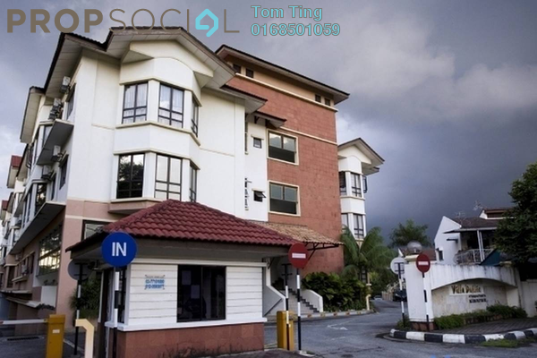 For Rent Apartment at Villa Dahlia, Bandar Utama Freehold Fully Furnished 3R/2B 1.3k