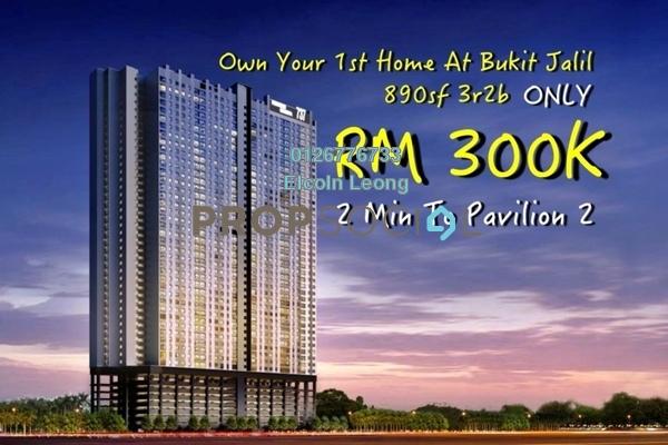 For Sale Condominium at Vista Komanwel, Bukit Jalil Leasehold Unfurnished 3R/2B 300k
