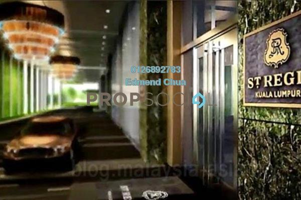 For Rent Serviced Residence at St Regis Residences, KL Sentral Freehold Semi Furnished 3R/4B 35k