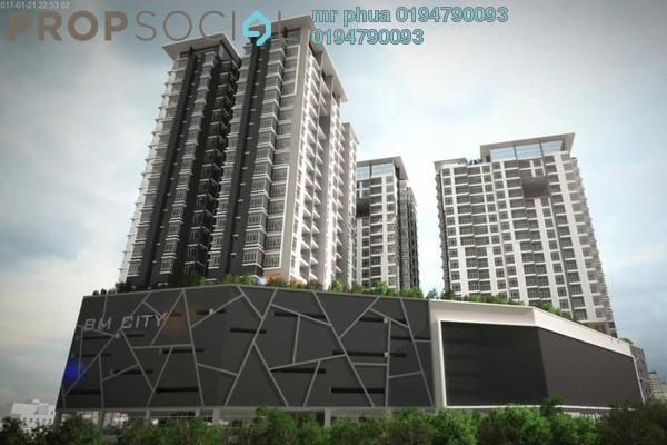 For Rent Condominium at BM City Mall, Bukit Mertajam Freehold Semi Furnished 3R/2B 1.1k