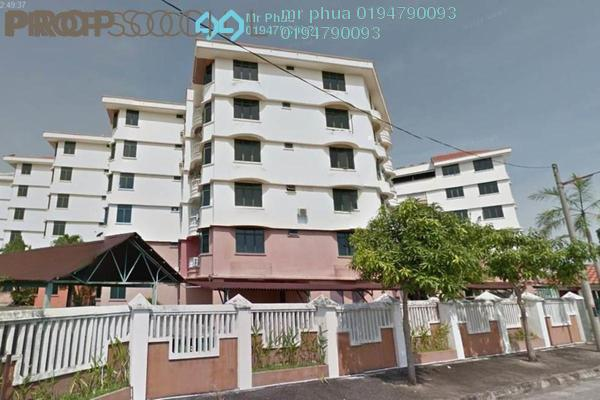 For Sale Apartment at Seri Molek Flat, Butterworth Freehold Fully Furnished 3R/2B 390k