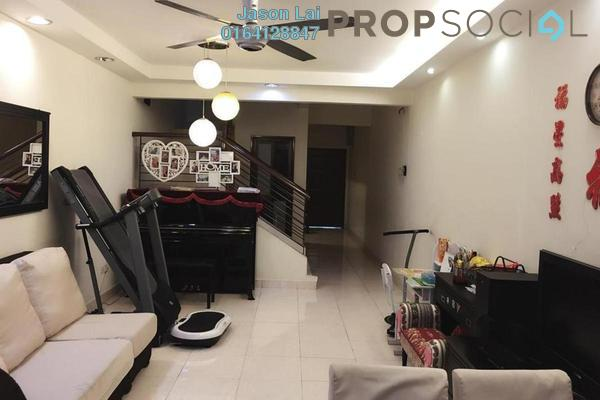 For Rent Townhouse at Villa Mas 1, Jalan Ipoh Freehold Semi Furnished 3R/2B 1.7k
