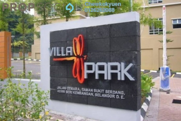 For Rent Condominium at Villa Park, Seri Kembangan Freehold Semi Furnished 4R/2B 1k