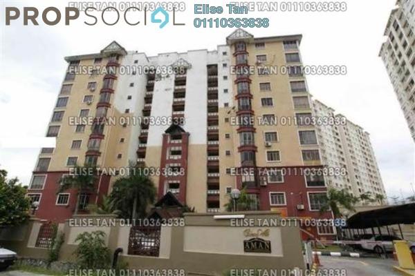 For Sale Condominium at Aman Apartment, Bandar Sunway Freehold Semi Furnished 3R/2B 240k