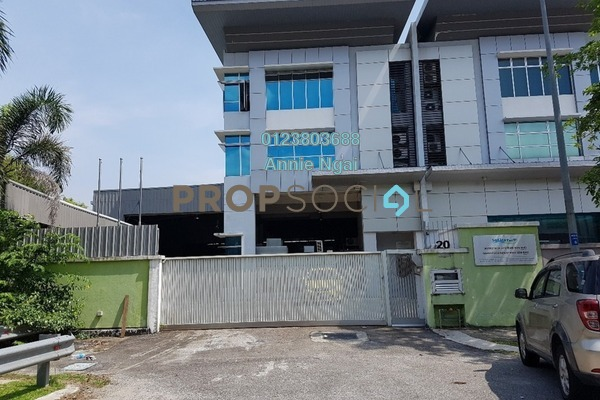For Sale Factory at Section U8, Bukit Jelutong Freehold Fully Furnished 0R/0B 4.5m