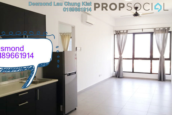 For Rent Condominium at D'Sands Residence, Old Klang Road Freehold Semi Furnished 2R/1B 1.6k