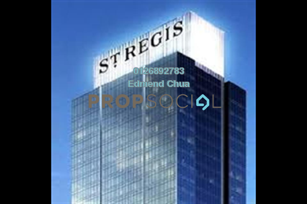 For Rent Serviced Residence at St Regis Residences, KL Sentral Freehold Semi Furnished 0R/1B 6k