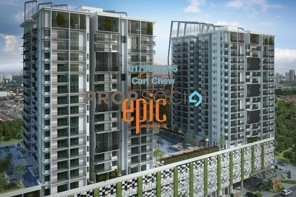 For Sale Condominium at Epic Residence, Bandar Bukit Puchong Freehold Semi Furnished 3R/2B 618k