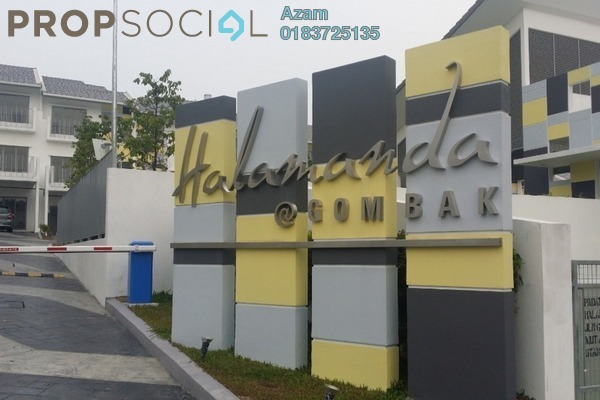 For Sale Terrace at Halamanda, Gombak Freehold Semi Furnished 4R/4B 1.95m