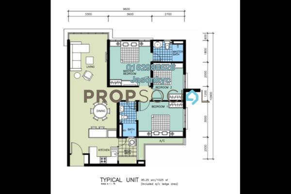For Sale Condominium at Berlian Setapak Residence, Kuala Lumpur Freehold Unfurnished 3R/2B 450k