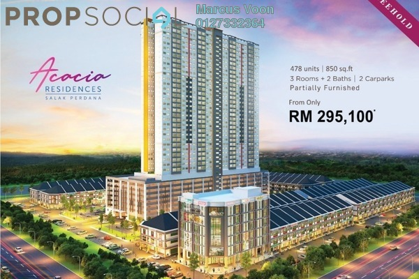 For Sale Serviced Residence at Salak Perdana Business Park, Bandar Baru Salak Tinggi Freehold Semi Furnished 3R/2B 295k