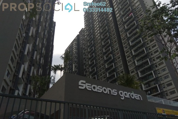 For Rent Condominium at Seasons Garden Residences, Wangsa Maju Freehold Fully Furnished 3R/2B 1.7k