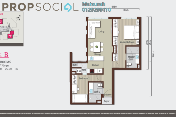 For Rent Condominium at VIVO Suites @ 9 Seputeh, Old Klang Road Freehold Semi Furnished 2R/2B 2.3k