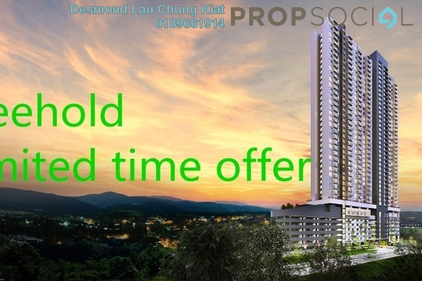 For Sale Serviced Residence at Amani Residences, Bandar Puteri Puchong Freehold Semi Furnished 2R/2B 450k