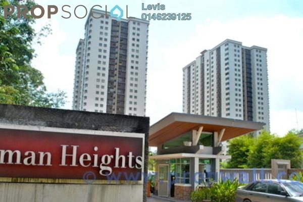 For Rent Condominium at Aman Heights, Seri Kembangan Freehold Semi Furnished 3R/2B 1.3k