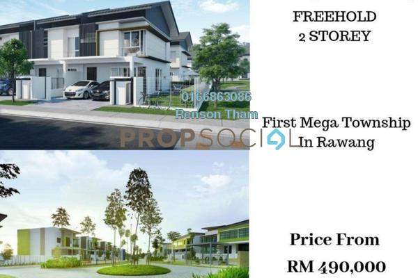 For Sale Terrace at Garland Residence, Rawang Freehold Unfurnished 4R/3B 539k