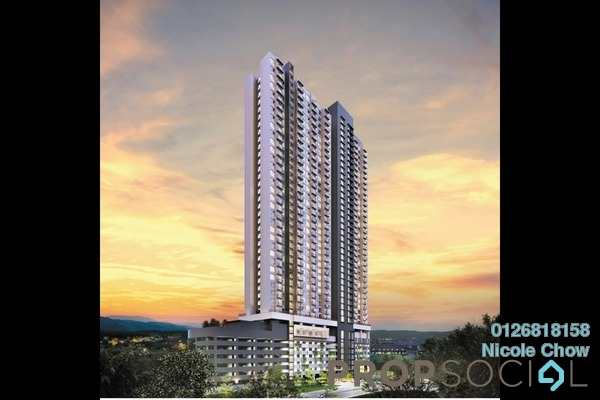 For Sale Condominium at Amani Residences, Bandar Puteri Puchong Freehold Fully Furnished 3R/2B 533k
