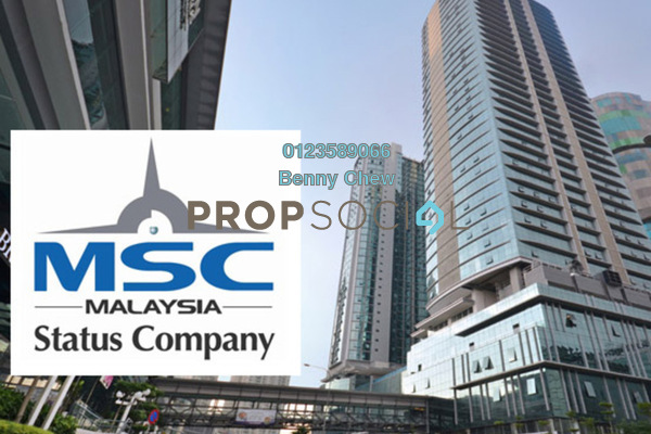 For Rent Office at The Vertical, Bangsar South Freehold Semi Furnished 0R/0B 10.2k