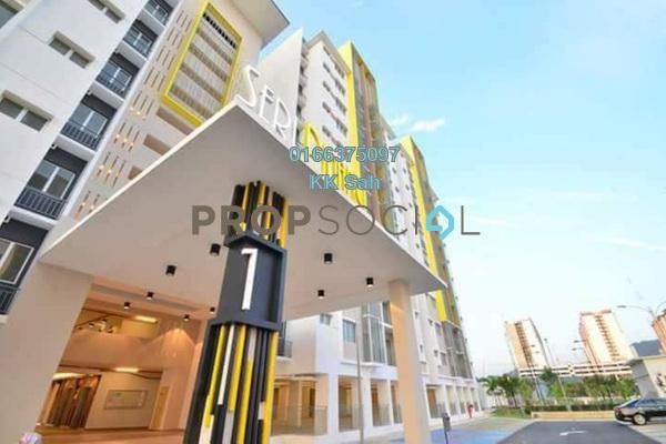 For Sale Condominium at Seri Pinang Apartment, Setia Alam Freehold Unfurnished 3R/2B 338k