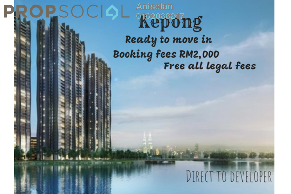 For Sale Condominium at The Henge Residence, Kepong Freehold Unfurnished 3R/2B 531k
