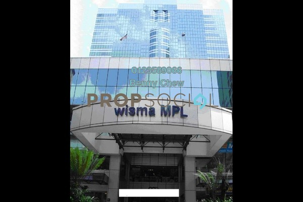 For Rent Office at Wisma MPL, Bukit Ceylon Freehold Semi Furnished 0R/0B 6.75k