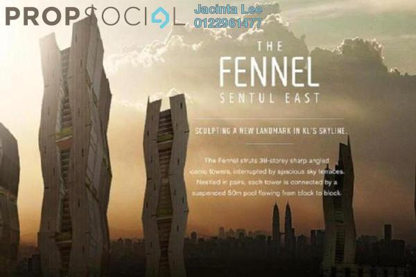 For Sale Condominium at The Fennel, Sentul Freehold Semi Furnished 3R/3B 689k