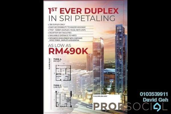 For Sale Serviced Residence at 8th & Stellar, Sri Petaling Leasehold Unfurnished 2R/2B 490k