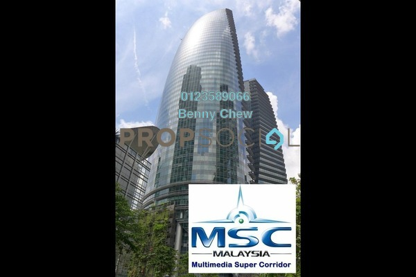 For Rent Office at Naza Tower, KLCC Freehold Semi Furnished 0R/0B 22.5k