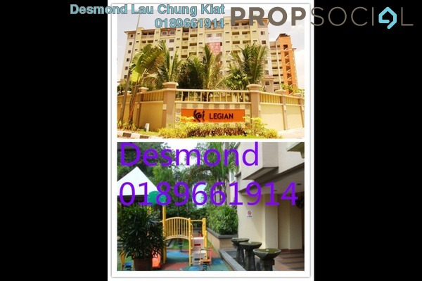 For Rent Condominium at Koi Legian, Bandar Puchong Jaya Freehold Semi Furnished 3R/3B 1.2k
