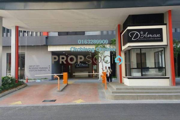 For Rent Condominium at D'Aman Residences, Puchong Freehold Semi Furnished 3R/2B 1k