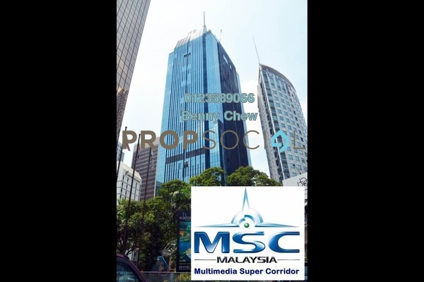 For Rent Office at JKG Tower, Chow Kit Freehold Semi Furnished 0R/0B 19.5k