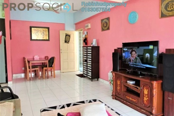 For Sale Apartment at Mawar Apartment, Sentul Freehold Semi Furnished 3R/2B 330k