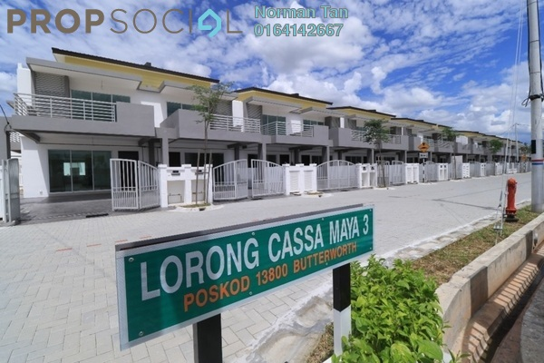 For Rent Terrace at Taman Cassa Maya, Sungai Dua Freehold Unfurnished 4R/3B 2k
