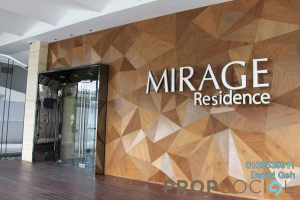 For Rent Condominium at Mirage Residence, KLCC Freehold Fully Furnished 2R/2B 4.1k