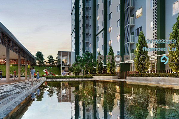For Sale Serviced Residence at Tangerine Suites, Sunsuria City Freehold Unfurnished 2R/1B 286k