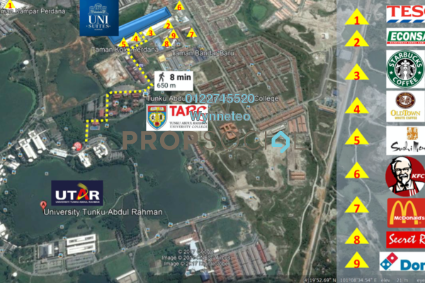 For Sale Condominium at Uni Suites, Kampar Freehold Fully Furnished 1R/1B 72.4k
