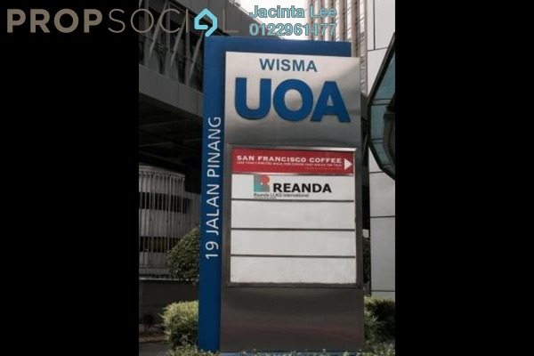 For Sale Office at Wisma UOA I, KLCC Freehold Semi Furnished 0R/2B 1.27m